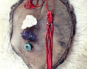 Scarlet Path Macrame Necklace
