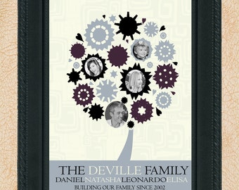 Printable Personalized Holiday Gift - Family Tree