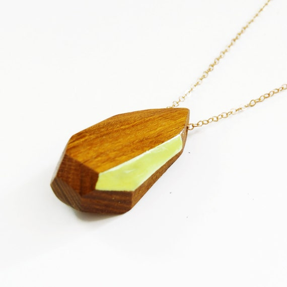 KARVE one-of-a-kind faceted wood necklace: no. 22 of 100