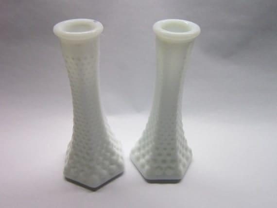 Vintage Milk Glass Hobnail Bud Vases 6 Eo Brody Company