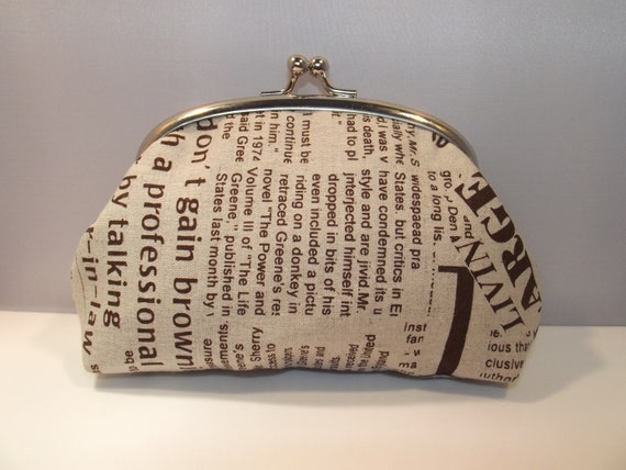 Large Coin Purse, change purse, fabric purse,make up bag