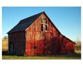 Red Barn Barn Picture Barn Photograph 4x6 Photograph - Free Shipping
