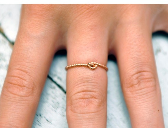 knot petite ring. 14kt gold filled. your size, custom