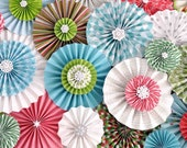 """Sale!! Christmas """"Ka-Lollie"""" Paper Rosette ON SALE!  Ideal for Party/Celebration/Photography Backdrop (Featured on HWTM)"""