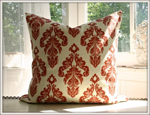 Indoor / Outdoor 18x18 pillow cover / Canopy Canyon / Red, Cream
