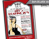 ROARING 20s Printable Party Invitation - Gangsters, Flappers, Gents & Dolls