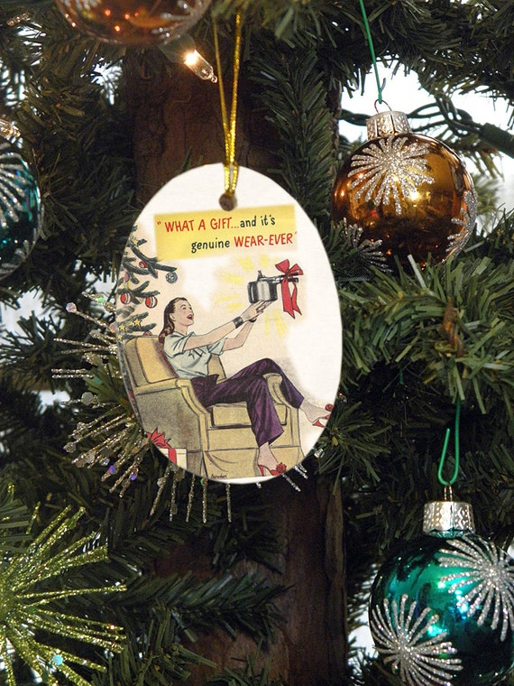 The Perfect Gift 1950's Cookware Advertisement Christmas Ornament
