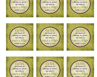 olive oil favor tags or stickers DIY printable