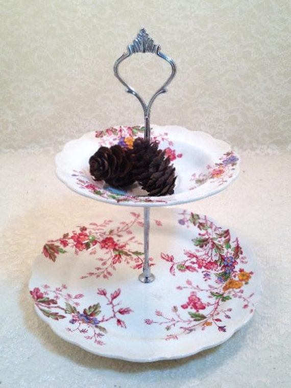 FIGHT LIKE A GIRL Falling For You Two Tier Tidbit Tray