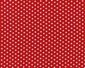 Spot On Red Mini Dots From Robert Kaufman