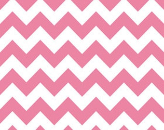 Fat Quarters ONLY - Hot Pink Medium Chevron From Riley Blake