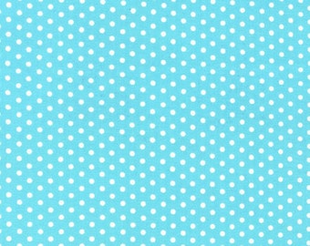 Spot On Aqua Mini Dots From Robert Kaufman