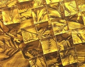 Brilliant GOLD VAN GOGH Stained Glass Mosaic Tile Squares B21