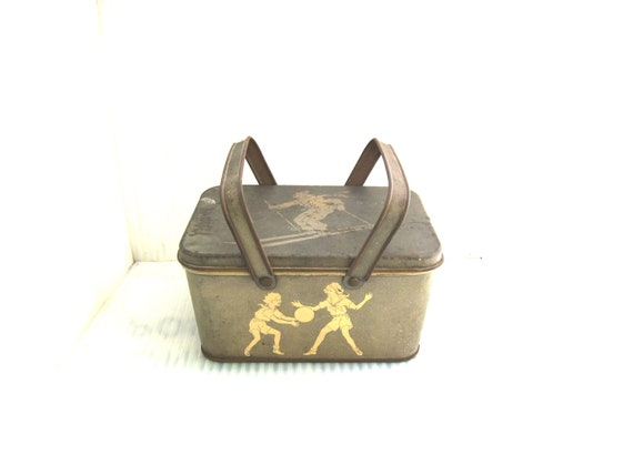 Vintage Girl Scout 1920's Sports Lunch Box