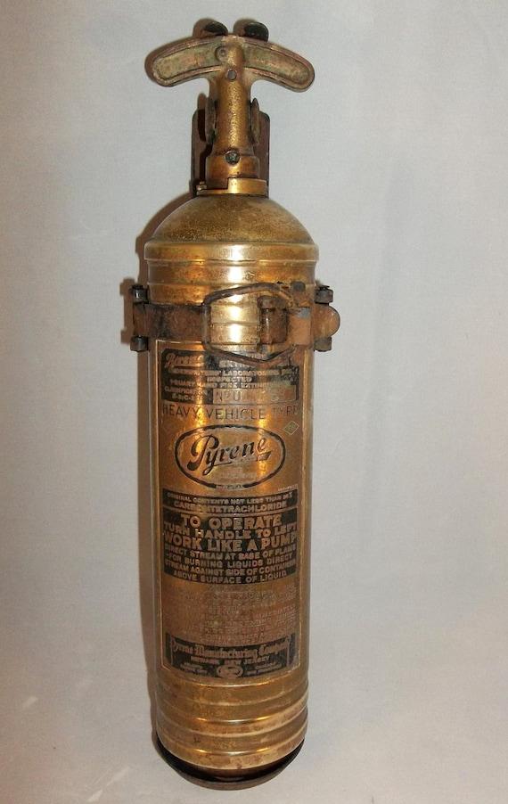 Pyrene brass fire extinguisher