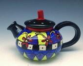 Teapot - Beautiful Hand-painted, Handmade Ceramic Teapot