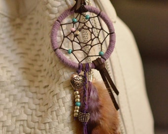 Dreamcatcher Feather Purse Charm