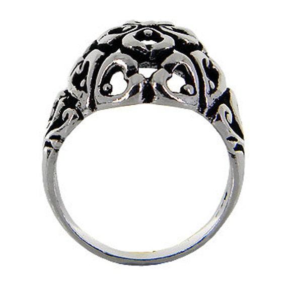 Heart Sterling Silver ring, Bubble Model, Love Ring, Plain Heart Ring, Heart Women Ring