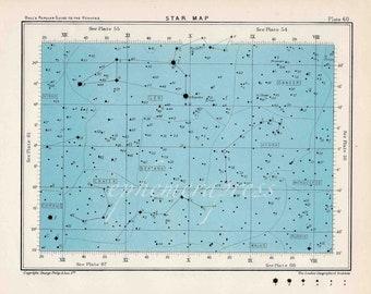 star map 60 celestial astronomy vintage celestial chart print