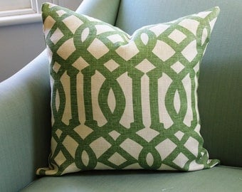 Kelly Wearstler Imperial Trellis Cushion Cover Trelliage Green