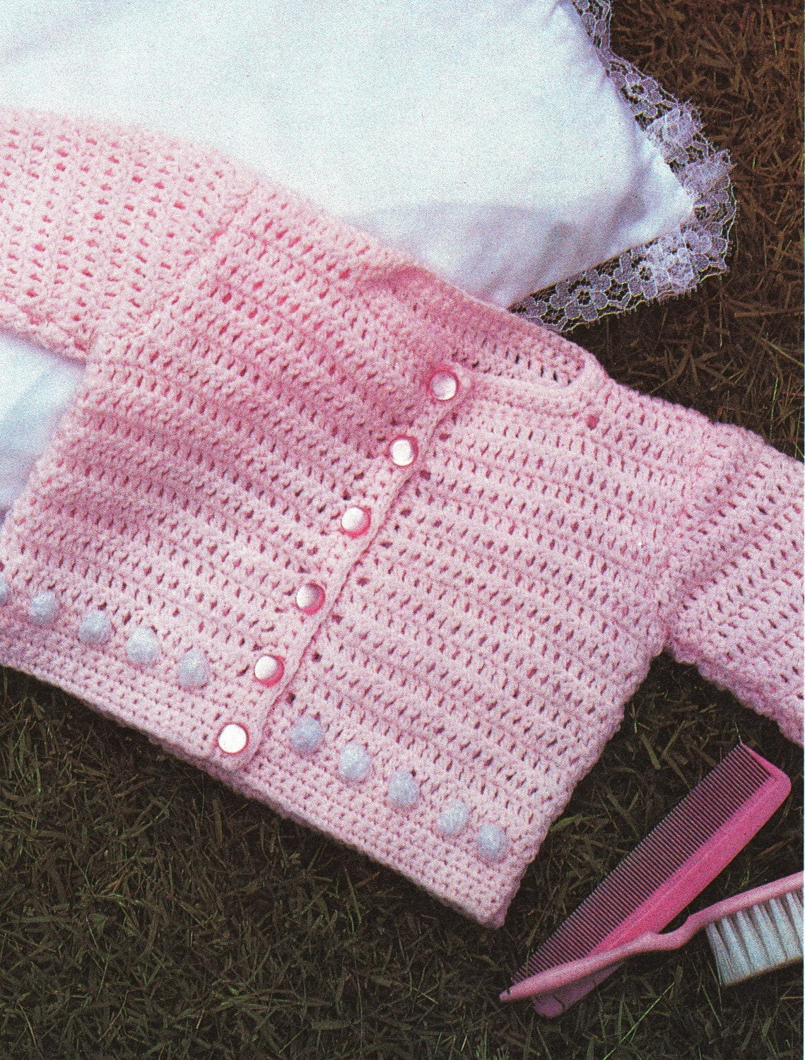 Crochet Baby Girl Cardigan Pattern Free : Baby Crochet Pattern for Newborn Baby Sweater by ...