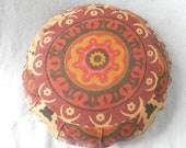 Round Zafu Meditation Pillow Filled with Kapok