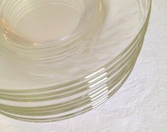 Vintage Crystal Clear Dinner Plate Libbey Rock Sharpe Wheat Glass Dinnerware 9 pattern 3003