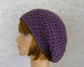 Chunky crochet Slouch hat Womens Teen Fall Winter Accessories