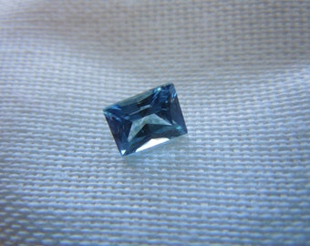 Genuine Montana Sapphire Blue Radiant Cut .83 carat Loose Gemstone for Engagement, Jewelry, Right Hand Ring Conflict free, Ethically Mined