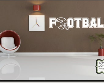 """FootBall 23""""w x 4.7""""h- Vinyl Wall Art / vinyl decal"""