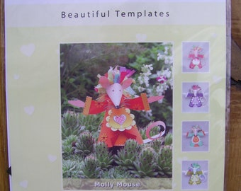 Cathie Shuttleworth Paper Crafts Beautiful Templates Molly Mouse Paper Craft Kit