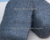 STEEL WOOL Super Fine 0000 For Polishing Your Metal - Set of 2 Pads - Highlighting Metal After Using Liver of Sulfur