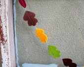 Fall Leaf Garland Felt Leaves 3 ft - Bring Autumn Woods Indoors for Wedding, Party, Thanksgiving Decor