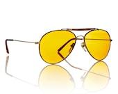 Duke Gold Classic Aviator Sunglasses - Amber Lens X American Deadstock