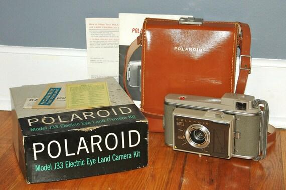 1960s Polaroid Camera With Original Bag and Paperwork