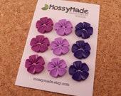 Buttons Vintage Flower Style - Plum Perfect (purple, lavender & plum)