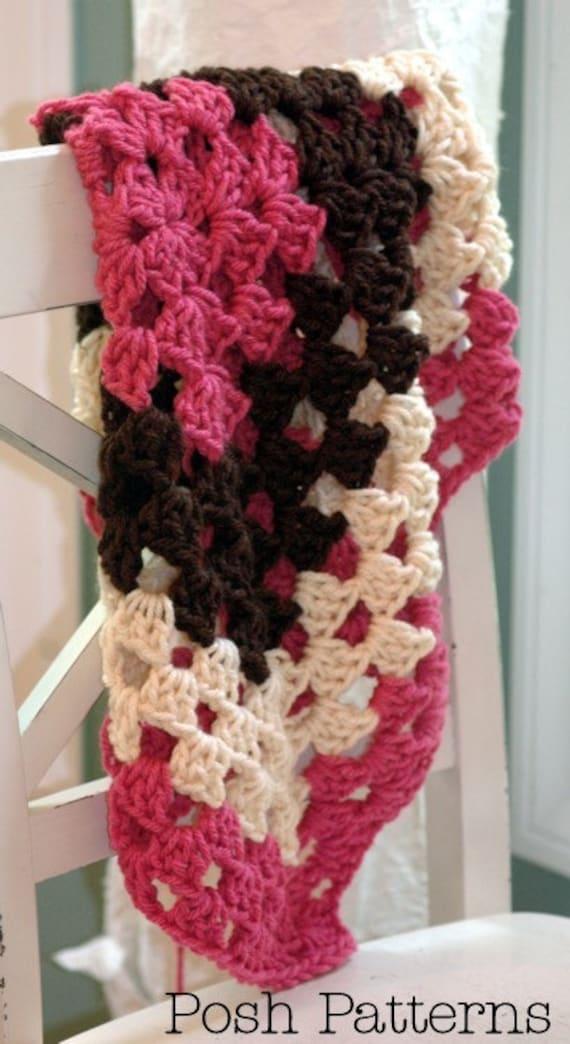 Crochet Baby Blanket Pattern - Crochet Pattern Baby Blanket - Crochet Blanket Pattern - Crochet Pattern - Granny Square Blanket - PDF 268