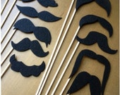 12 REUSABLE Mustaches on a Stick Party Photo Props