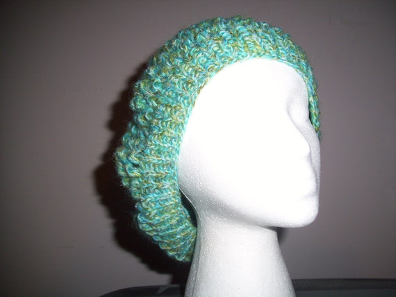 Blue Green soft light and airy slouch hat