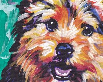 "Norwich Terrier art print pop dog art bright colors 8.5x11"" LEA"