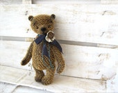PATTERN to create Teddy like traditional Bear Vasiliy 7 inches brown navy blue