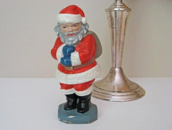 Vintage 1940's German Santa Marked Germany U.S. Zone - Mid Century Retro Post WWII Era Santa Figurine - Antique Christmas Santa Figurine