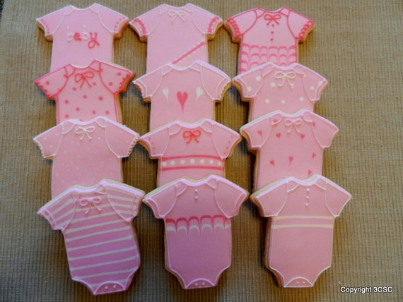 items similar to baby romper cookie favors for baby showers or new mother gift on etsy