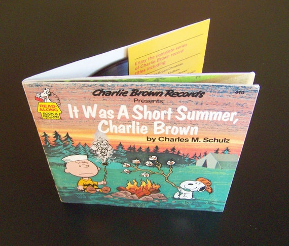 Vintage Book & Record - It Was a Short Summer Charlie Brown - 1980