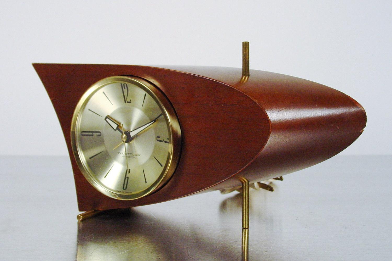 Midcentury Modern Table Clock Boomerang Clock Westclox 707