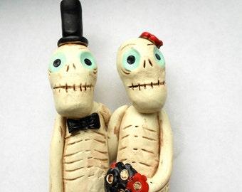 Till Death Do Us Part Skeleton Love Goth Wedding Cake Topper