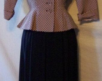 Exquisite 1940s R&K Originals Peplum Dress Suit