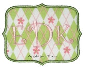 Instant Download Frame 9 Machine Embroidery Applique Design 4x4, 5x7 and 6x10
