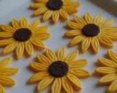 Edible Fondant Sunflowers