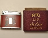 Working ATC Super De Luxe Lighter New Old Stock Mint In Box